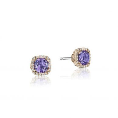 Rose Amethyst Stud Earrings SE244P13
