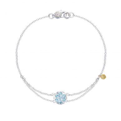 SB20002 Sonoma Skies Silver Sky Blue Topaz Delicate Bracelet for Women