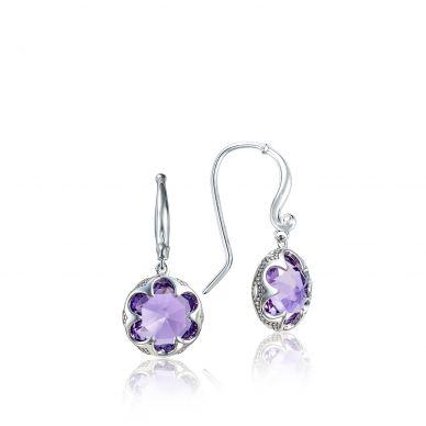 SE21101 Sonoma Skies Silver Amethyst Drop Earrings for Women