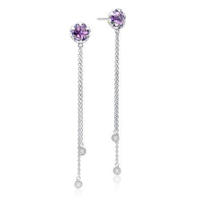 SE21201 Sonoma Skies Silver Amethyst Long Earrings for Women