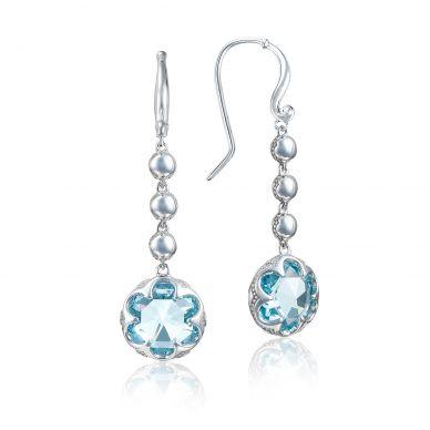 SE21302 Sonoma Skies Silver Sky Blue Topaz Statement Earrings for Women