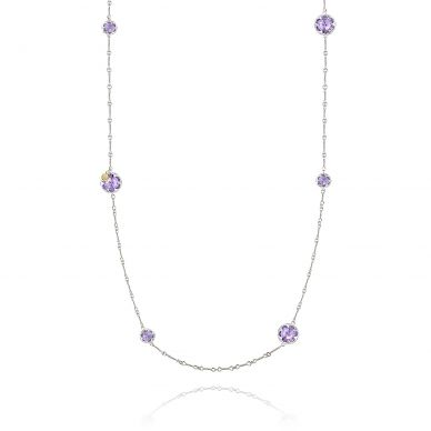 SN20301 Sonoma Skies Silver Amethyst Long Necklace for Women