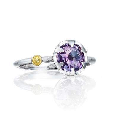 SR19701 Sonoma Skies Silver Amethyst Delicate Ring for Women