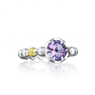 SR19801 Sonoma Skies Silver Amethyst Delicate Ring for Women