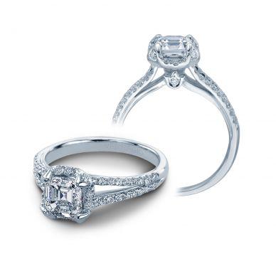Verragio Couture 0378-P Platinum Asscher Engagement Ring