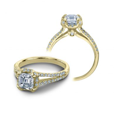 Verragio Couture 0378-Y Yellow Gold Asscher Engagement Ring