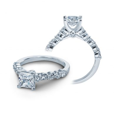 Verragio Couture 0410MP White Gold Princess Engagement Ring