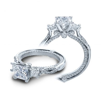 Verragio Couture 0423DP White Gold Princess Engagement Ring