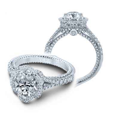 Verragio Couture 0426OV White Gold Oval Engagement Ring