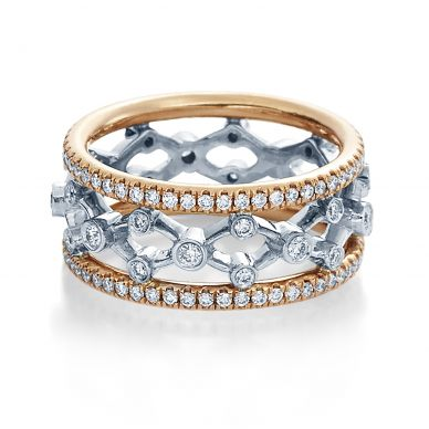 Verragio Eterna 4024-RWR Rose Gold and Platinum Wedding Ring