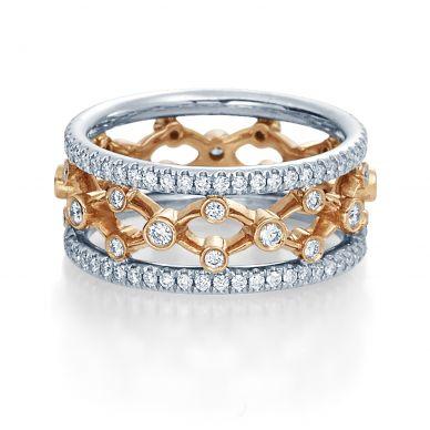 Verragio Eterna 4024-WRW Platinum and Rose Gold Wedding Ring
