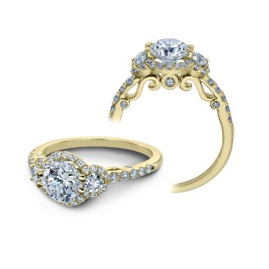 Verragio Insignia 7049D-Y Yellow Gold Round Engagement Ring
