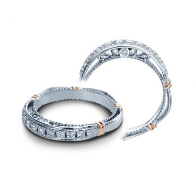 Verragio Parisian 101LW White and Rose Gold Wedding Ring