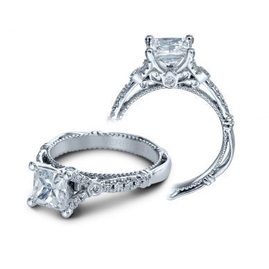 Verragio Parisian 126P-P Platinum Princess Engagement Ring