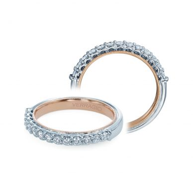 Verragio Renaissance 901W-TT White and Rose Gold Wedding Ring