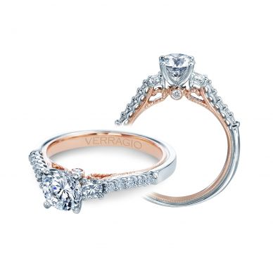 Verragio Renaissance 905R6-TT White and Rose Gold Round Engagement Ring