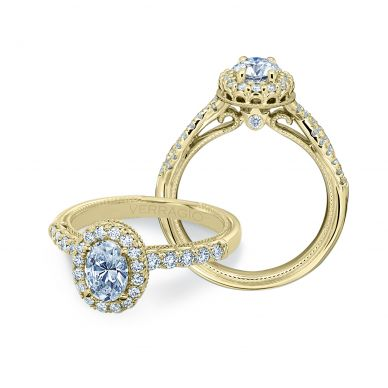 Verragio Renaissance 918OV7X5-Y Yellow Gold Oval Engagement Ring