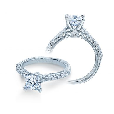 Verragio Renaissance 941P6 White Gold Princess Engagement Ring