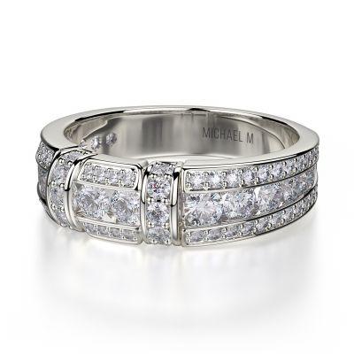 Michael M R406b White Gold Wedding Ring For Women