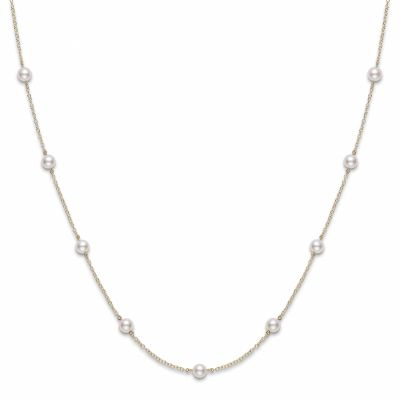 Mikimoto 5.5 mm Akoya Cultured Pearl Station Necklace PC158AK