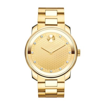 3600374 Mens Movado Diamond Yellow Gold Watch