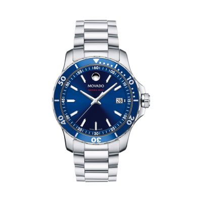 Mens Movado Series 800 Blue Dial Mens Sport Watch