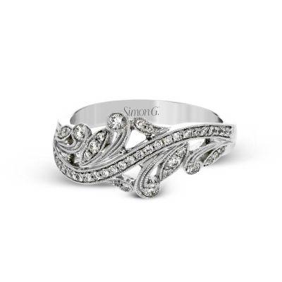 Simon G. TR645 White Gold Unique Diamond Ring for Women
