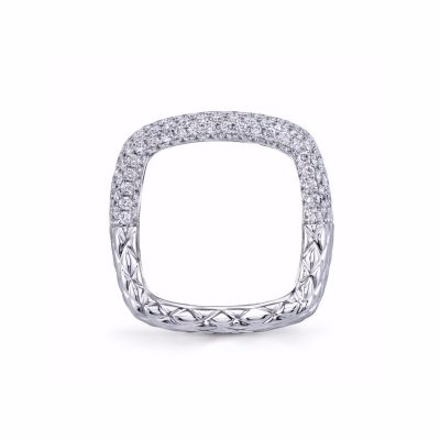 Cushion shape diamond wedding band