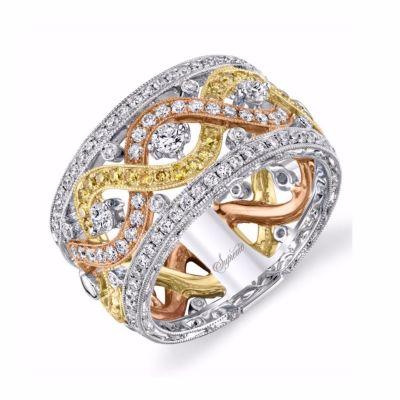 Supreme Jewelry Tri Tone Diamond Band