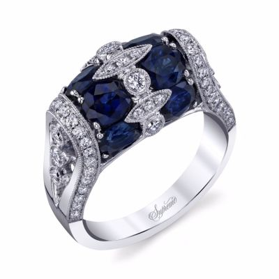 Supreme Jewelry Oval Sapphire and Diamond Ring