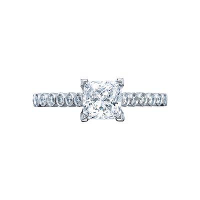 Tacori 200-2PR Sculpted Crescent White Gold Princess Cut Engagement Ring