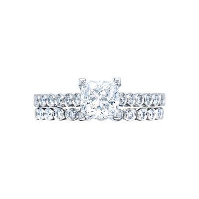 Tacori 200-2PR White Gold Princess Cut Simple Engagement Ring set