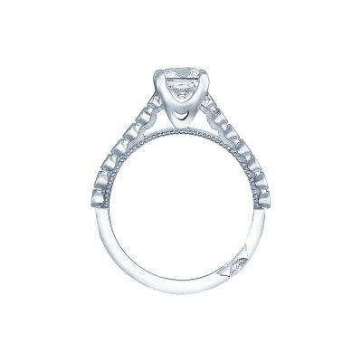 Tacori 200-2PR55 Platinum Princess Cut Engagement Ring side