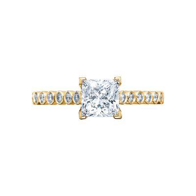 Tacori 200-2PR55Y Sculpted Crescent Yellow Gold Princess Cut Engagement Ring