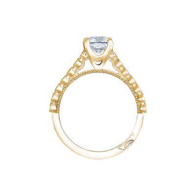 Tacori 200-2PR55Y Yellow Gold Princess Cut Engagement Ring side