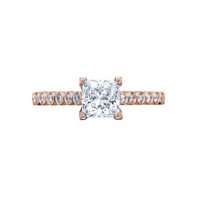 Tacori 200-2PR5PK Sculpted Crescent Rose Gold Princess Cut Engagement Ring