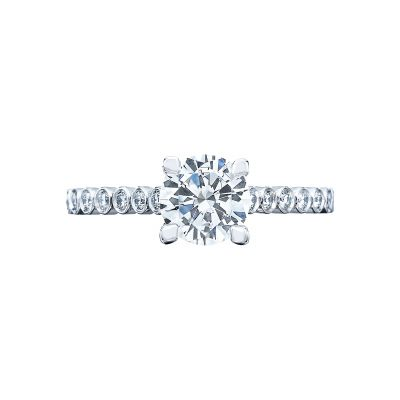 Tacori 200-2RD Sculpted Crescent White Gold Round Engagement Ring