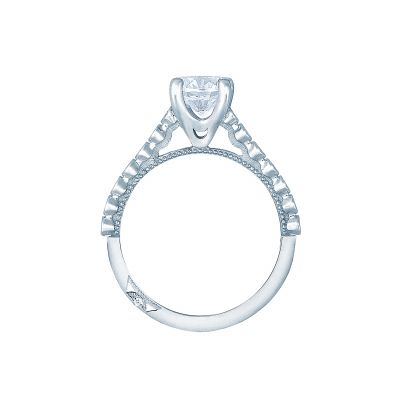 Tacori 200-2RD White Gold Round Engagement Ring side