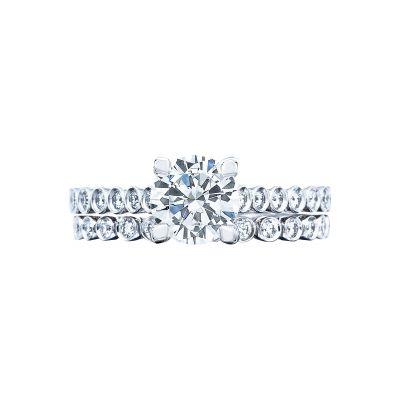 Tacori 200-2RD White Gold Round Unique Classic Engagement Ring set