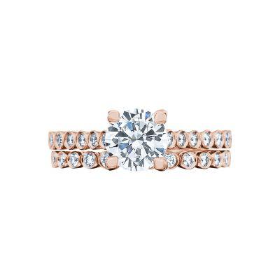 Tacori 200-2RD65-PK Rose Gold Round Simple Classic Engagement Ring set
