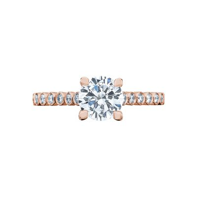 Tacori 200-2RD65-PK Sculpted Crescent Rose Gold Round Engagement Ring