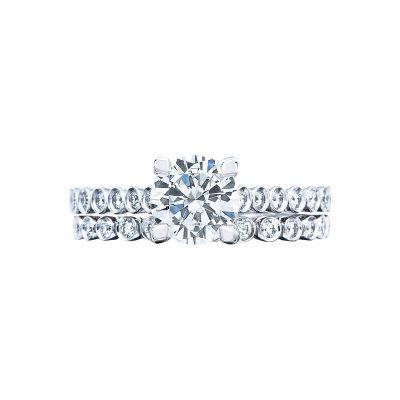 Tacori 200-2RD65 Platinum Round Simple Engagement Ring set