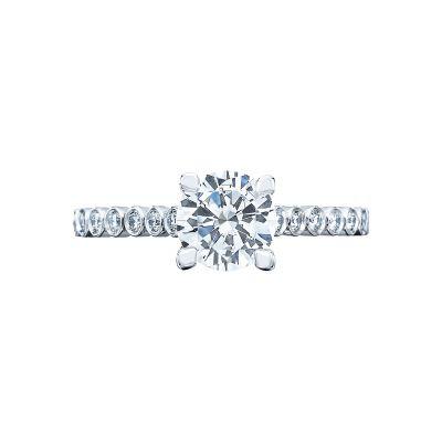 Tacori 200-2RD65 Sculpted Crescent Platinum Round Engagement Ring