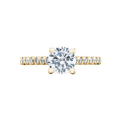 Tacori 200-2RD65-Y Sculpted Crescent Yellow Gold Round Engagement Ring