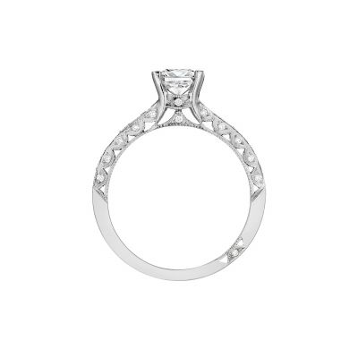 Tacori 201-2PR White Gold Princess Cut Engagement Ring side