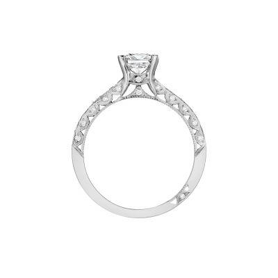Tacori 201-2PR5 Platinum Princess Cut Engagement Ring side