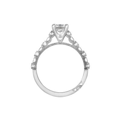 Tacori 201-2RD White Gold Round Engagement Ring side