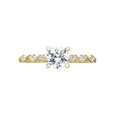 Tacori 201-2RD55Y Sculpted Crescent Yellow Gold Round Engagement Ring