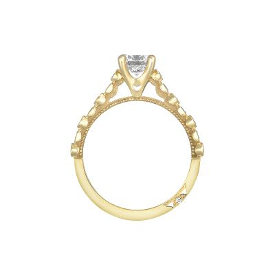 Tacori 201-2RD55Y Yellow Gold Round Engagement Ring side