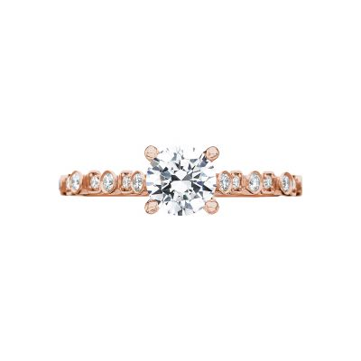 Tacori 201-2RD5PK Sculpted Crescent Rose Gold Round Engagement Ring